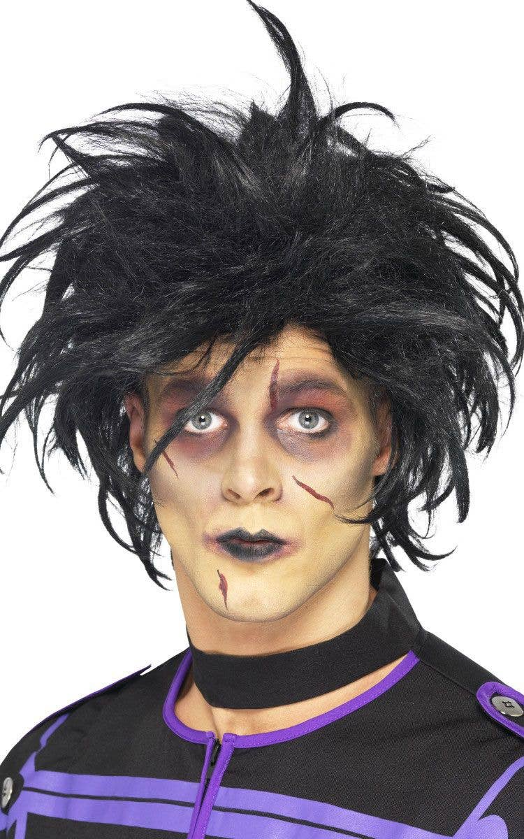Men s Black Spiky Edward Scissorshands Halloween Costume Wig c11b31594