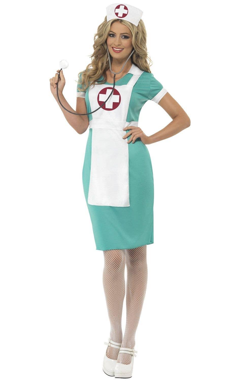 3ec49ed0c47 Women's Blue Nurse Costume   Women's Scrub Nurse Uniform Costume