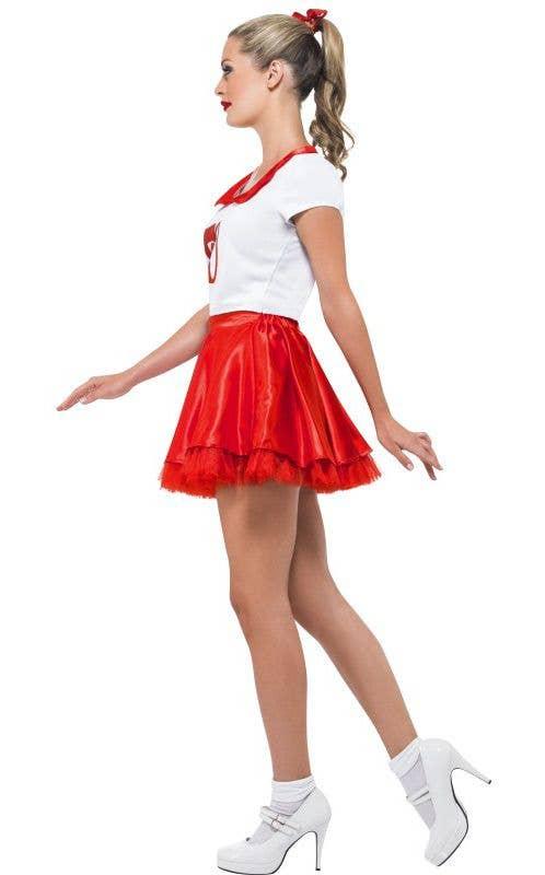 8fbf3c6ef65 Grease Women s Sandy Short Retro Cheerleader Costume Side
