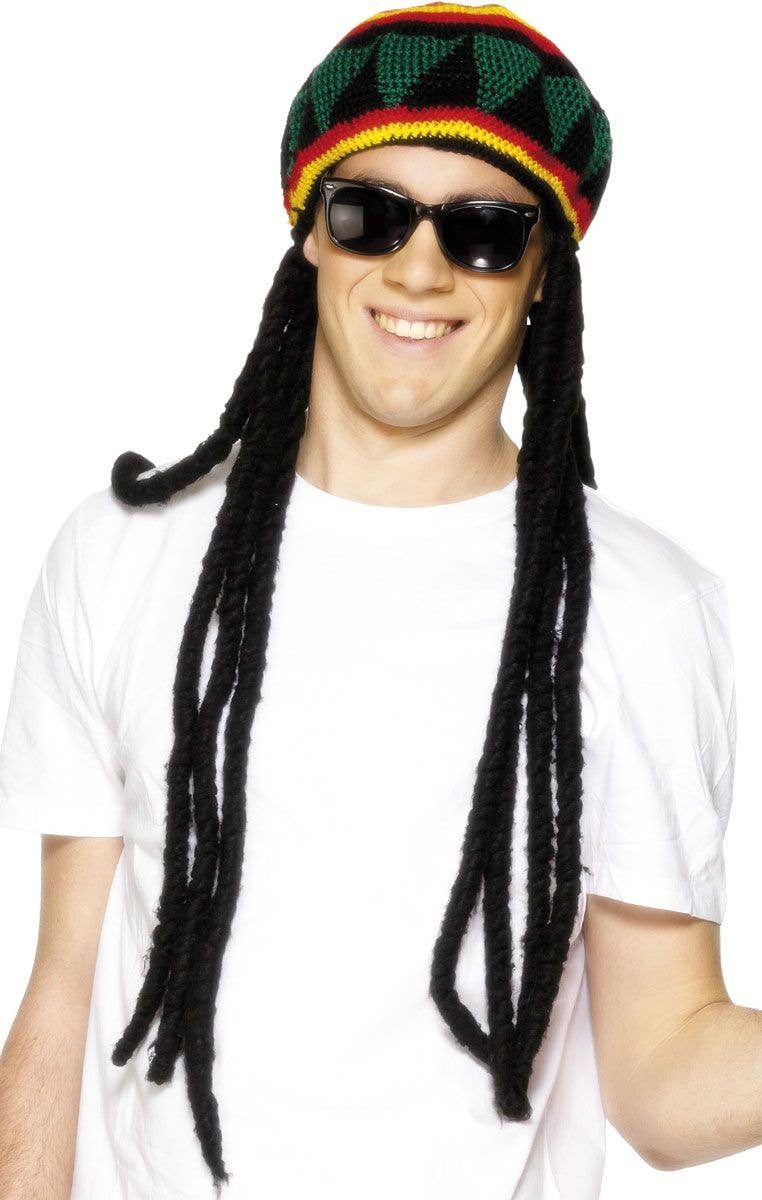 a1fc3f3ce Rasta Beret and Dreadlocks Adult's Costume Wig and Hat