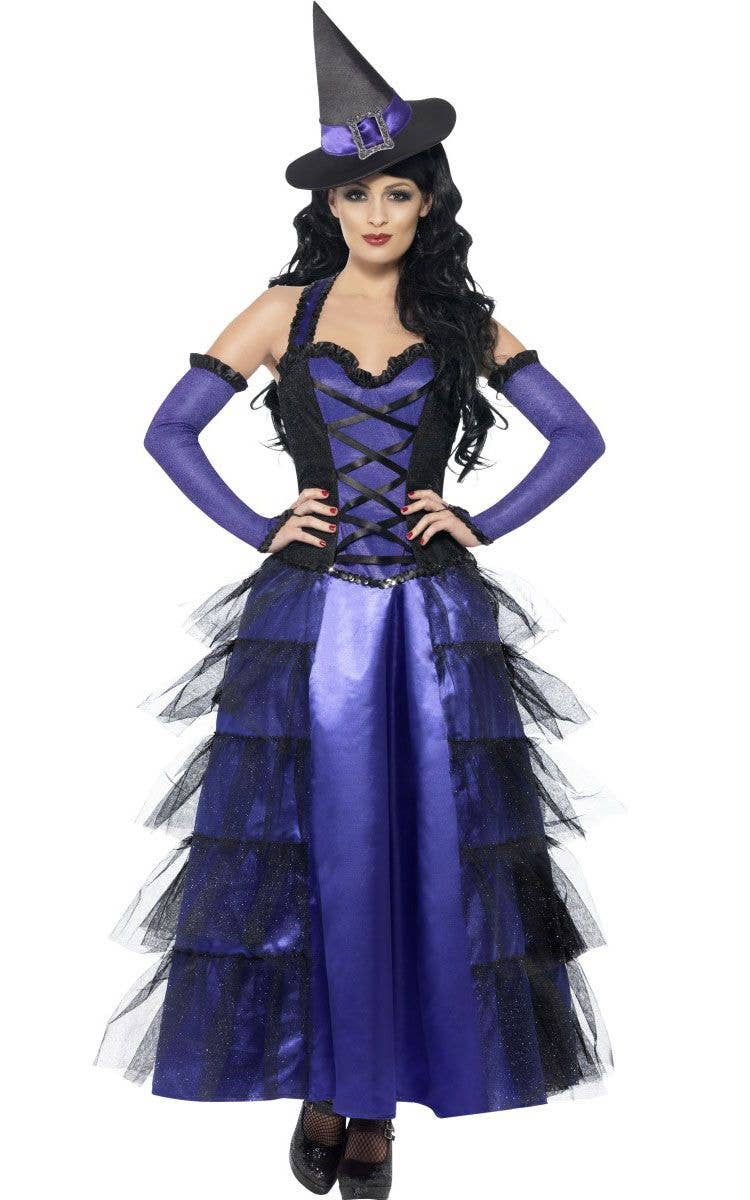 261a4ed0e Women's Long Witch Costume | Purple Witch Halloween Costume
