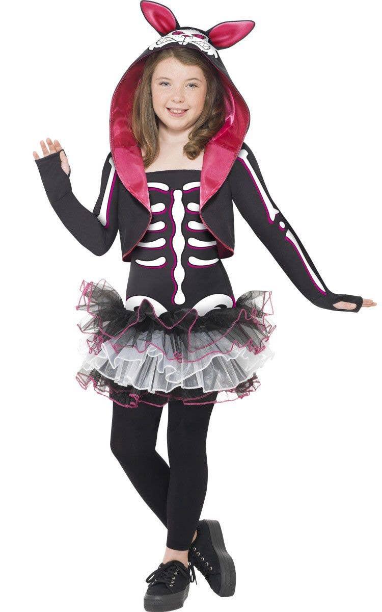f53ca912ae7e1 Kids Skelly Rabbit Costume | Girls Skeleton Halloween Costume