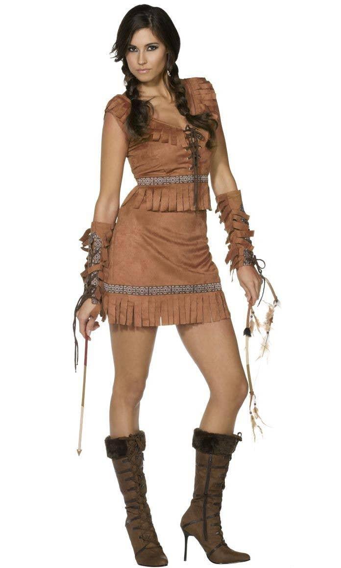 ba9c11c9242 American Indian Sexy Costume | Women's Pocahontas Fancy Dress Costume