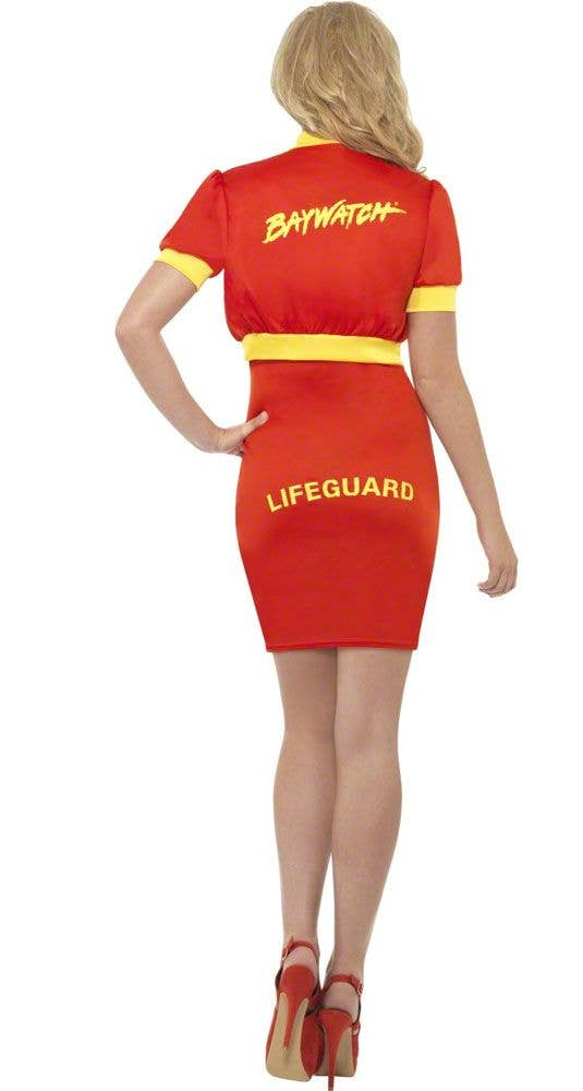 3a74915a43b Baywatch Women s Mid Length Costume Dress Back View