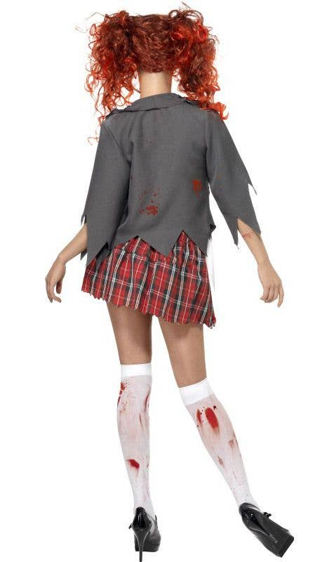 more views of womens school girl zombie costume