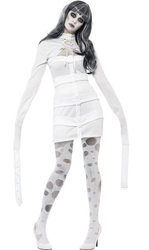 Strait Jacket Halloween Costume Womens Psycho Nympho Sexy Costume