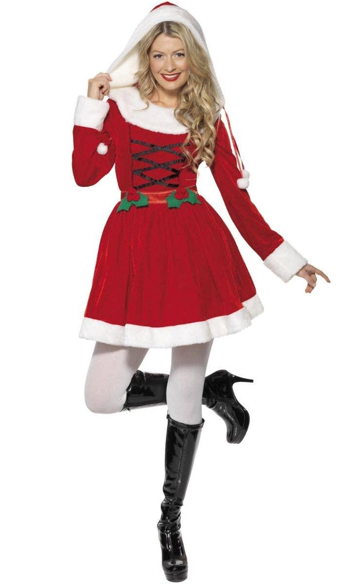 Miss Santa Women S Christmas Fancy Dress Costume