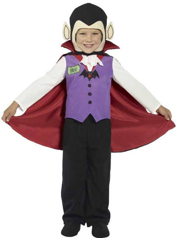 V&ire Toddler Boyu0027s Dracula Halloween Costume Front View  sc 1 st  Heaven Costumes & Vampire Boys Costume | The Count Toddler Kids Halloween Costume