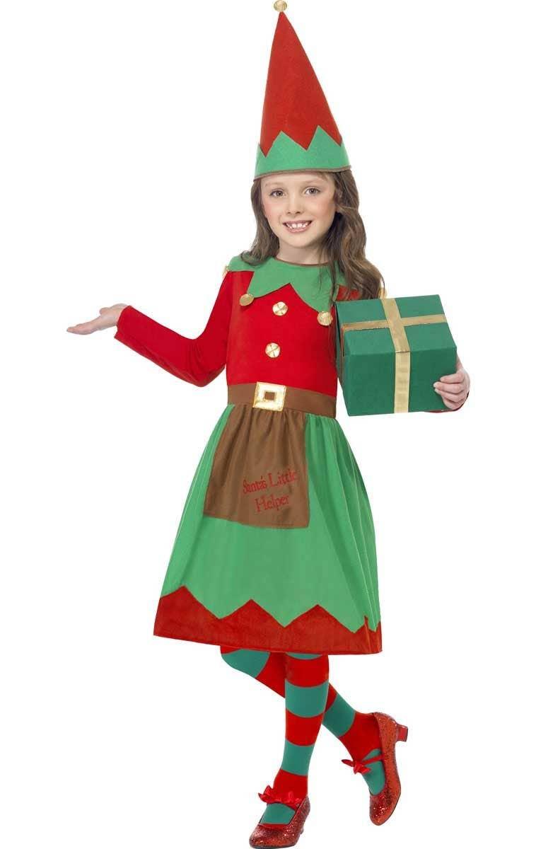 4da97a5d610 Santa's Little Helper Girl's Christmas Elf Costume
