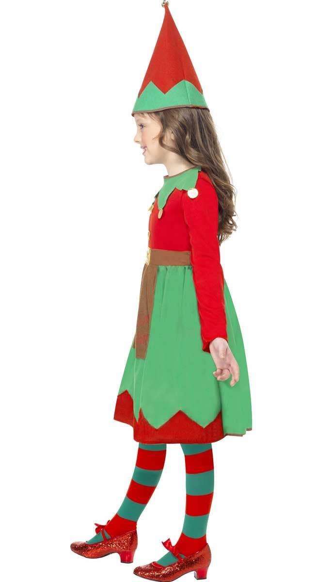Girl\'s Cute Elf Christmas Costume | Santa\'s Elf Kids Dress Up Costume