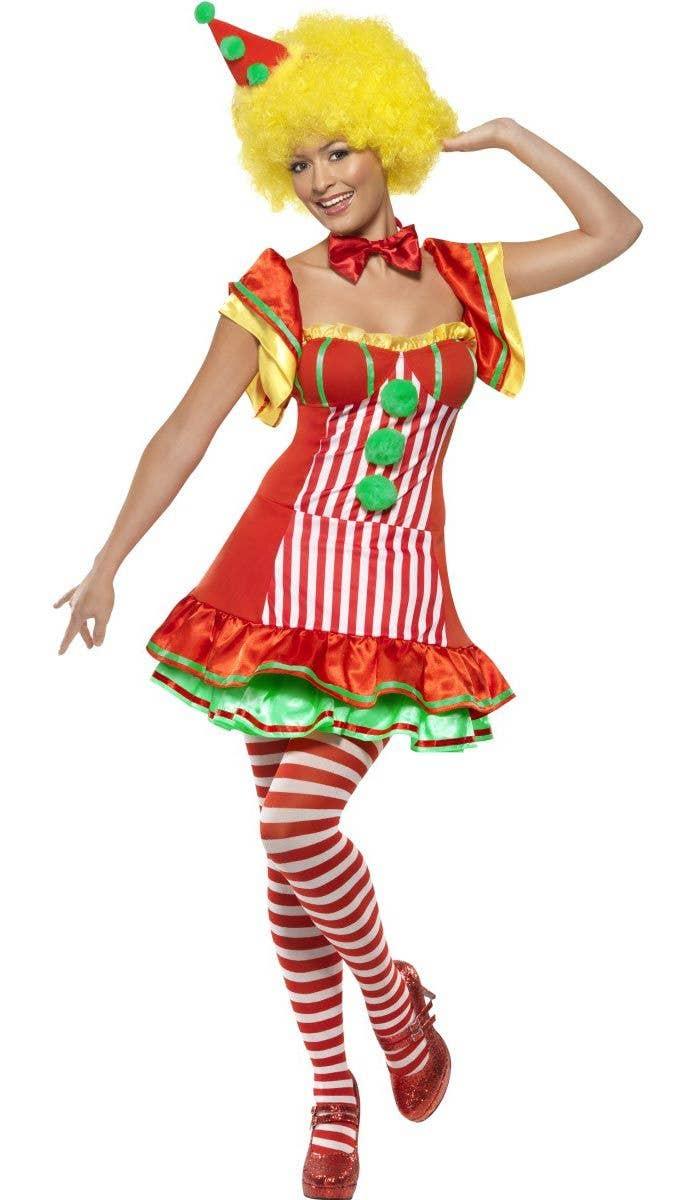 ac31fb43f9b97 Women's Red Clown Costume   Sexy Circus Clown Fancy Dress Costume