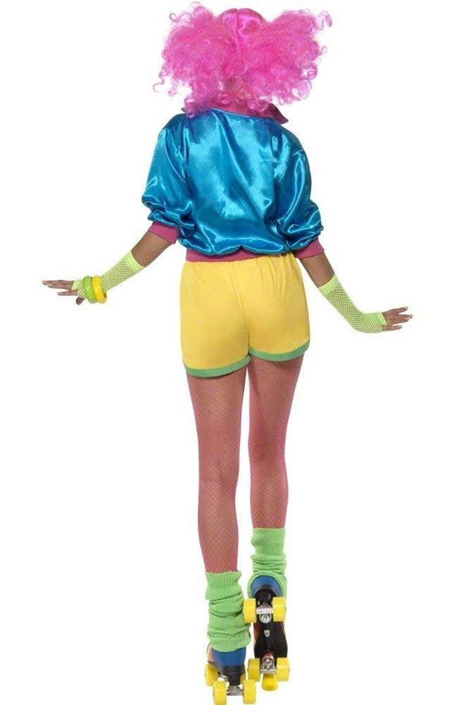 80s Womens Roller Girl Skate Costume Back View
