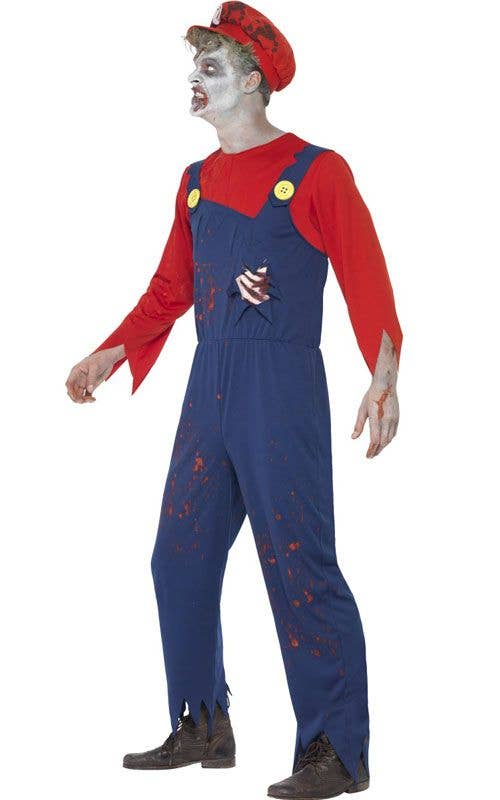 mens zombie plumber mario halloween costume alternative