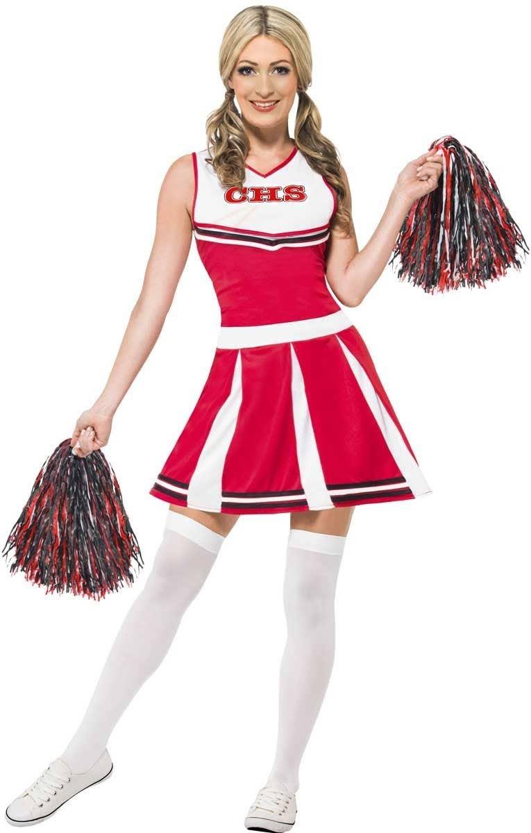 539914cb9 Classic Red Cheerleader Costume   Red Cheerleader Women's Costume