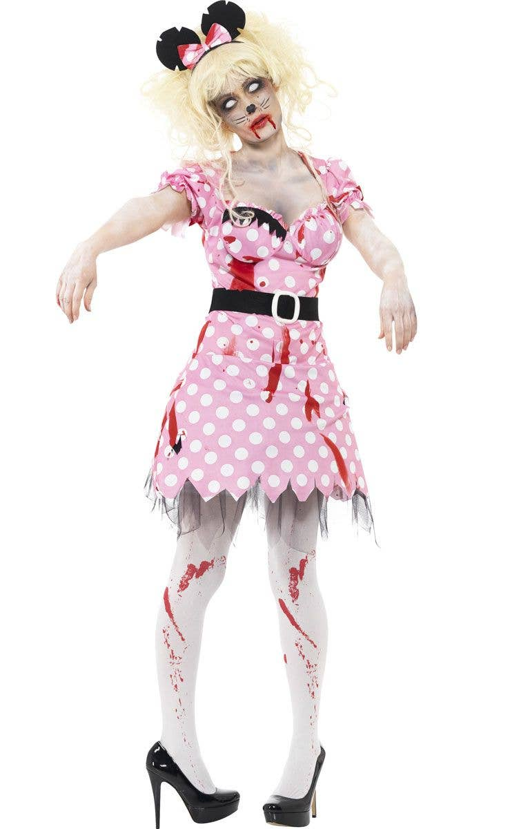 women's zombie minnie mouse costume   disney zombie costume