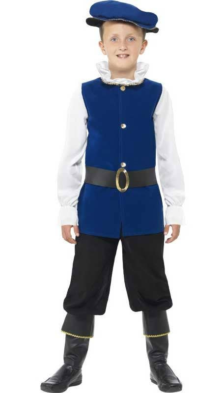 Costumes Boys Tudor Costume Medieval Renaissance Prince Book Week Kids Fancy Dress Child Costumes, Reenactment, Theater