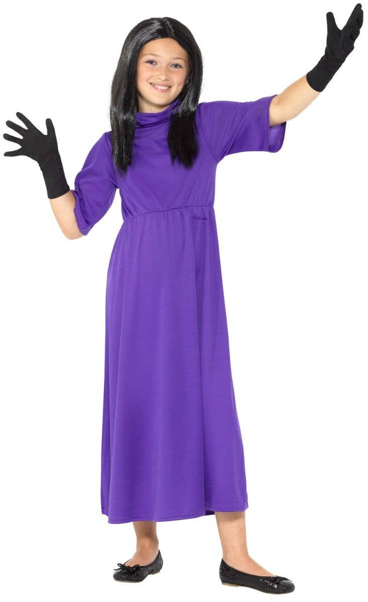 The Witches Girls Grand High Witch Roald Dahl Book Week Costume Front Image