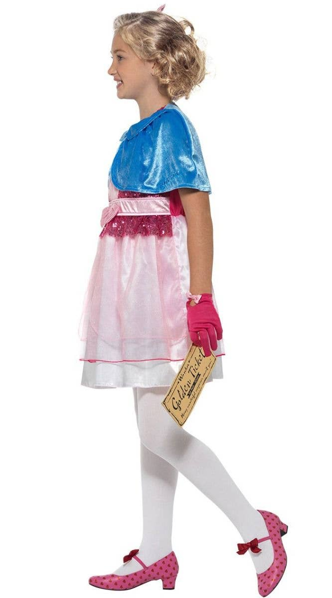 e15c4bed2c60 Girls Veruca Salt Willy Wonka Roald Dahl Book Week Costume Side Image