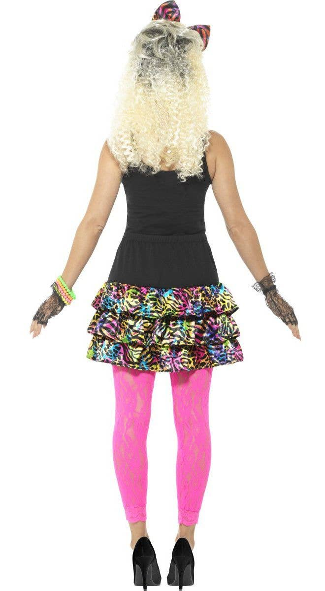 4883041a5a Zebra Women s Colourful 1980 s Party Girl Costume Accessory Kit With Skirt