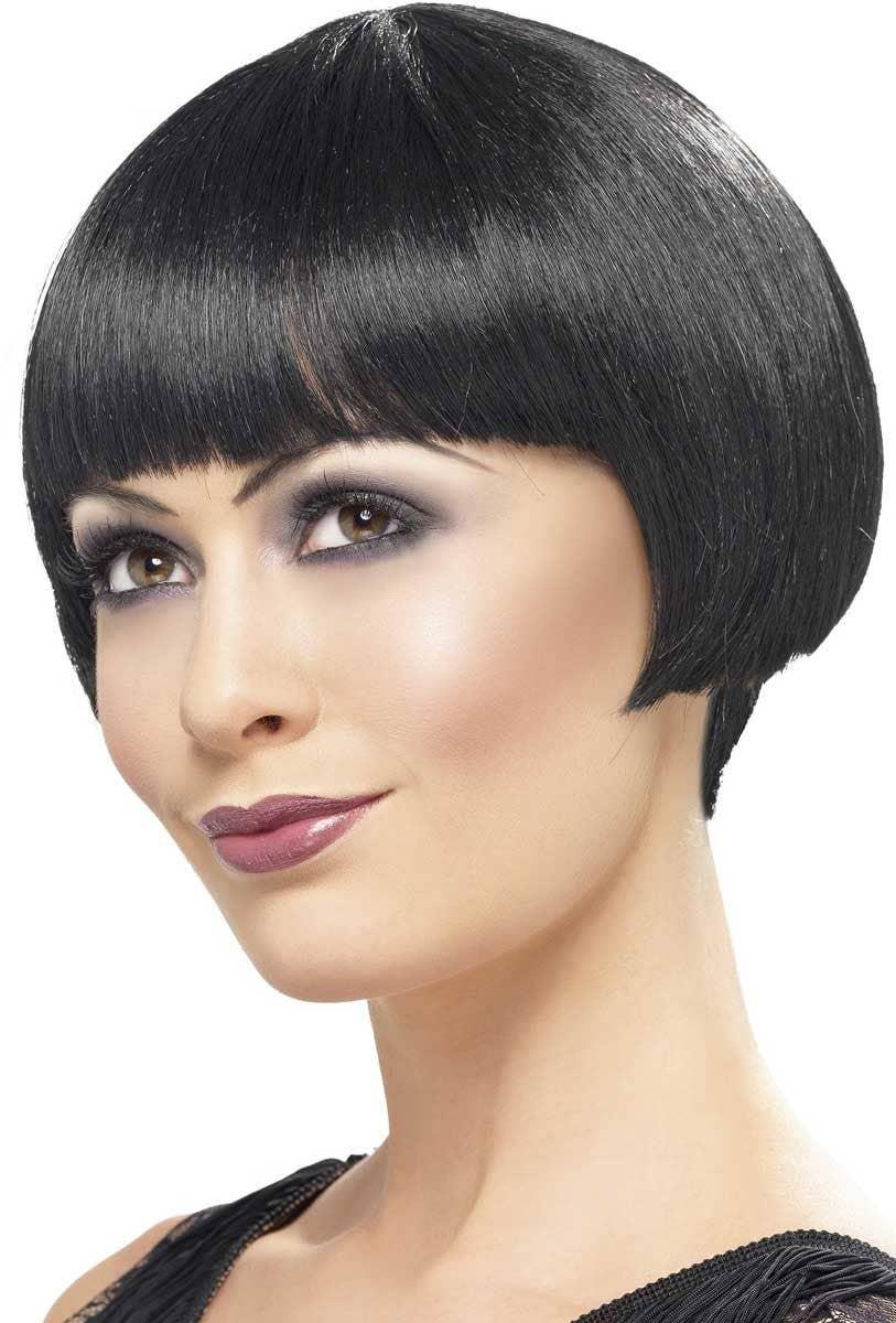 Women s Short Black 1920 s Bob Cut Flapper Wig Main Image 737b89ae83