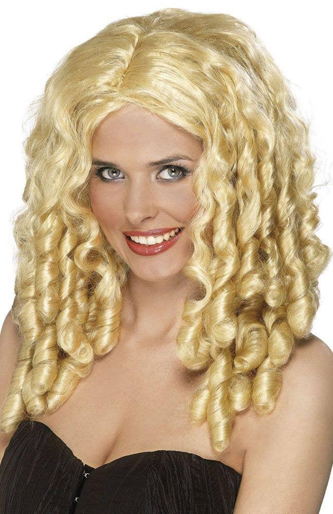 Blonde Ringlet Film Star Wig Women S Cute Curly Blonde Wig
