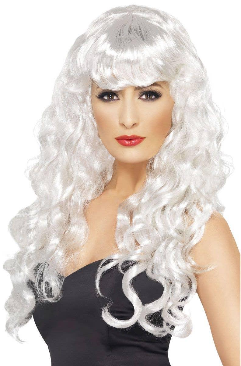 Women's Costume Wigs | Glamour Siren Women's Long White ...