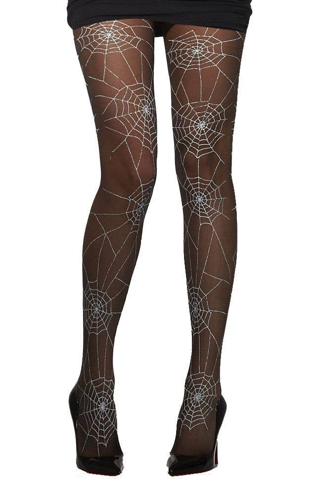 d256cda09 More Views of Women s Black Spiderweb Stockings