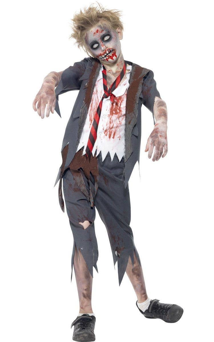 boy's zombie halloween costume | private school zombie costume