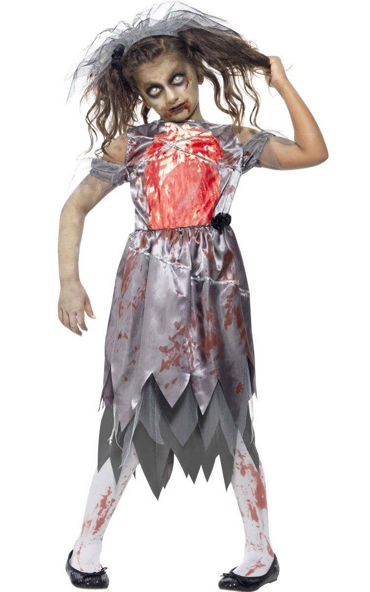 Dead Bride Halloween Costume.Undead Bride Girls Halloween Zombie Costume