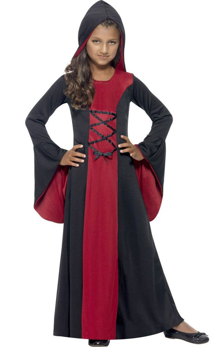 45d3d7a08 Red and Black Girls Costume Robe | Hooded Kids Halloween Costume
