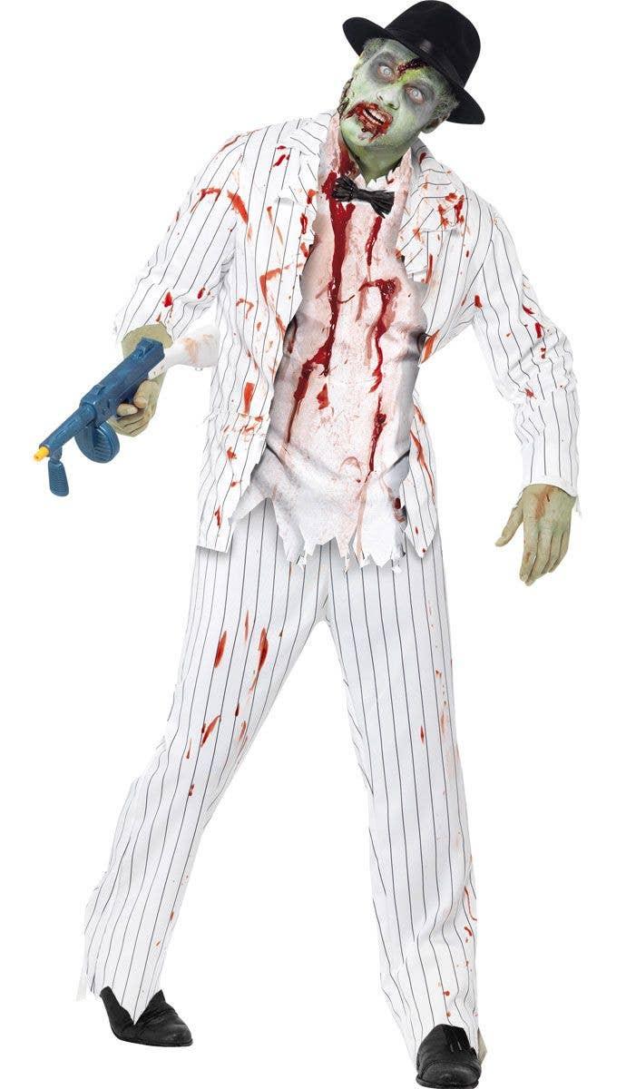 men's dead gangster costume   shot gangster men's zombie costume