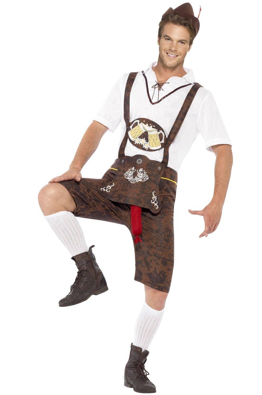 0b60e6fe9e Brad Wurst Funny Oktoberfest Costume | Lederhosen German Costume