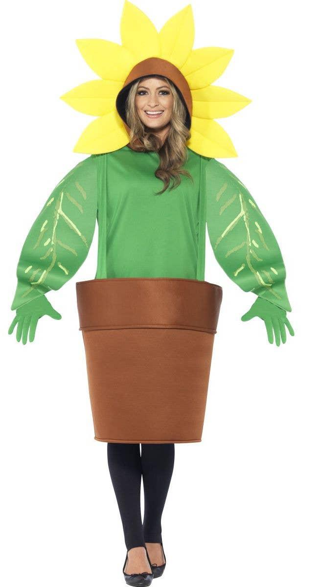 aedb0bd1fee8a Sunflower Adults Costume | Adults Sunflower Fancy Dress Costume