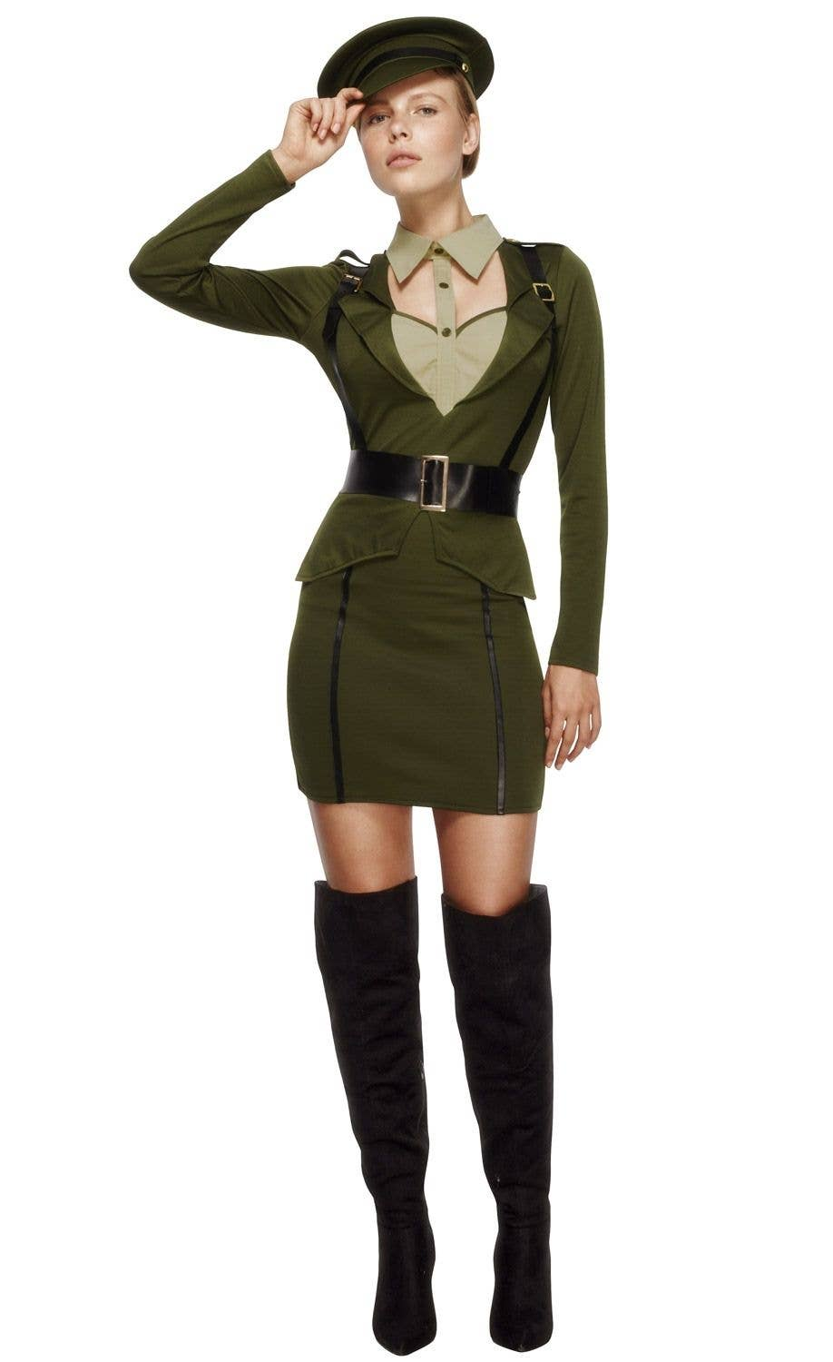 73988d4c Women's Sexy Army Captain Costume   Sexy Military Captain Costume