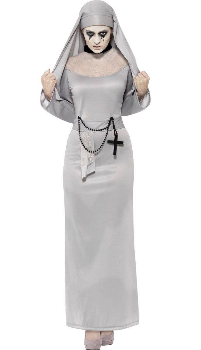 dead nun women's halloween costume | gothic ghost nun costume