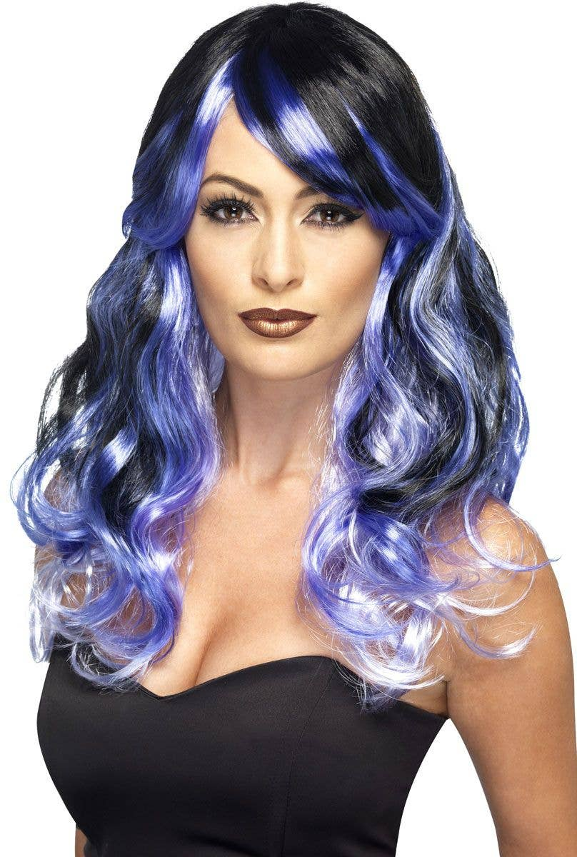 Purple And Black Curly Ombre Costume Wig Main Image e951fe23d