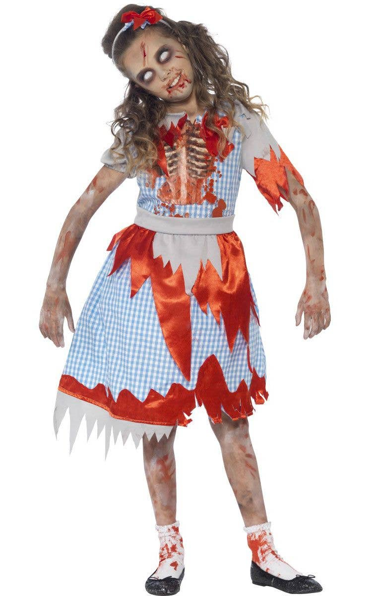 zombie dorothy girls costume | undead country girl halloween costume