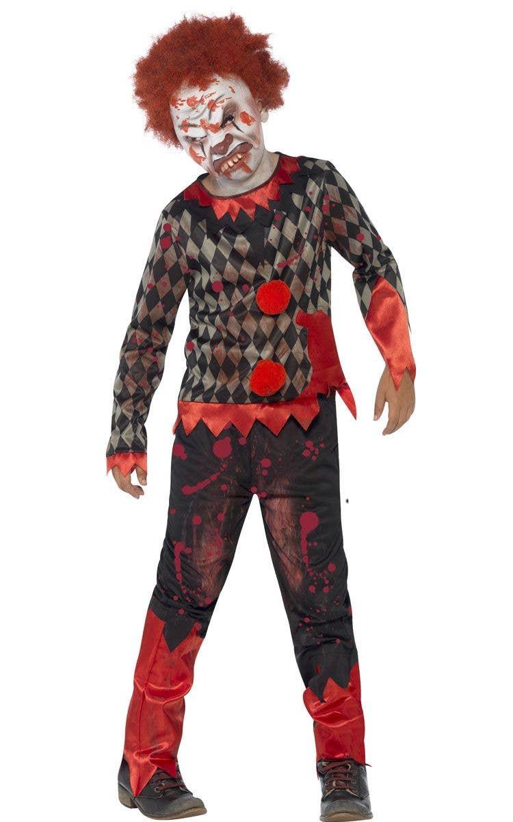 boys zombie clown costume | kid's halloween costumes