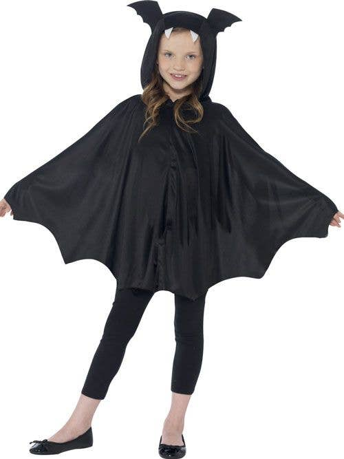 girls vampire bat halloween cape costume front view