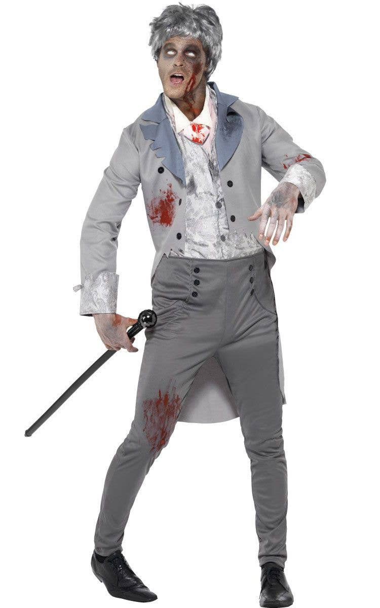zombie gentleman halloween costume mens zombie fancy