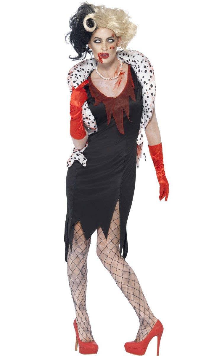more views of cruella de vil zombie costume