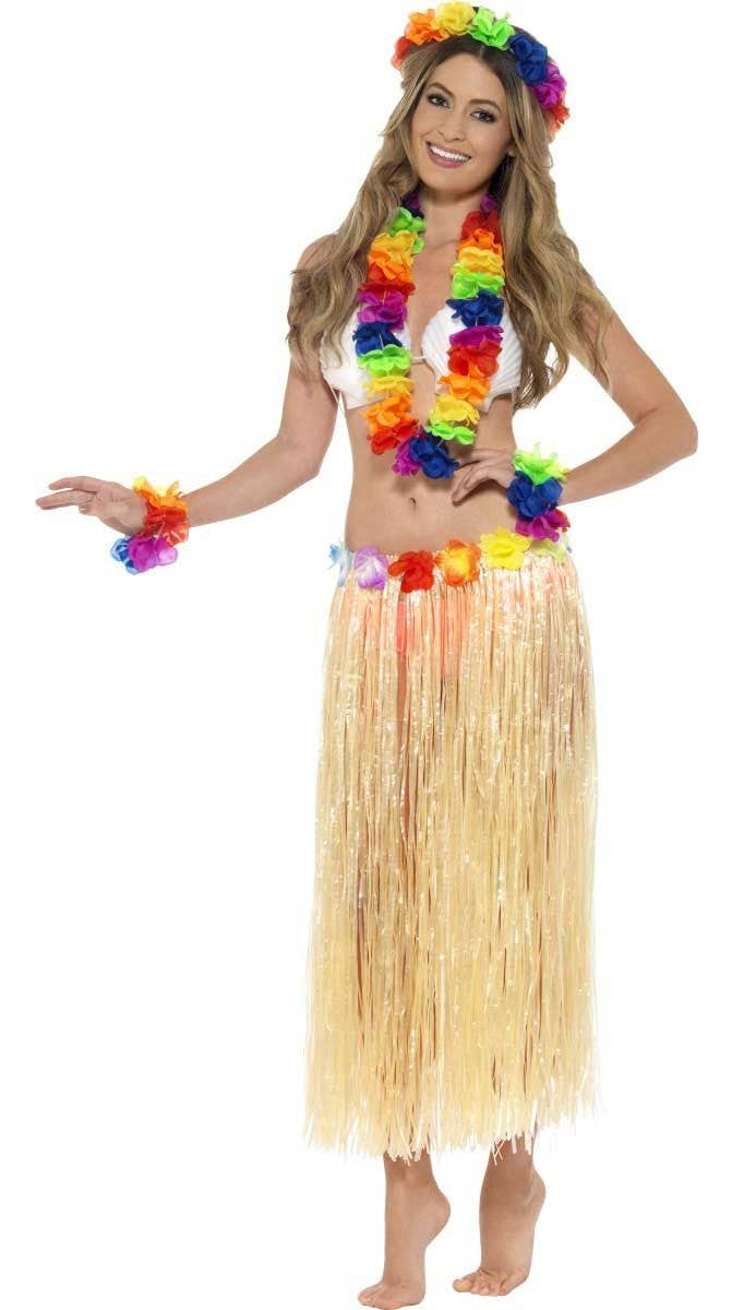 Hawaiian Multicoloured Flower Lei Set
