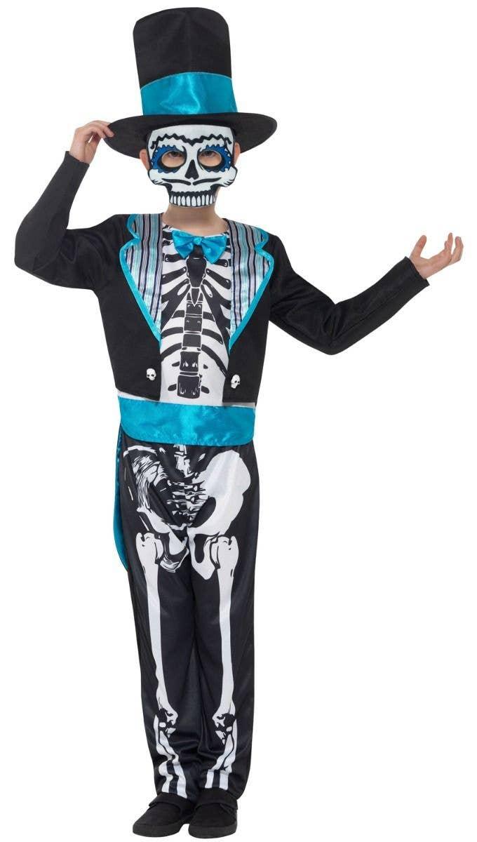 halloween day of the dead boy's costume   boy's skeleton groom costume