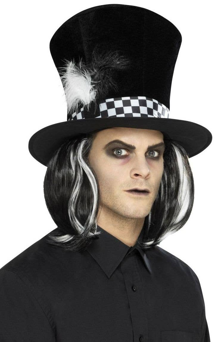 3bf4df66b72 Tea Party Black Mad Hatter Halloween Hat Front Image