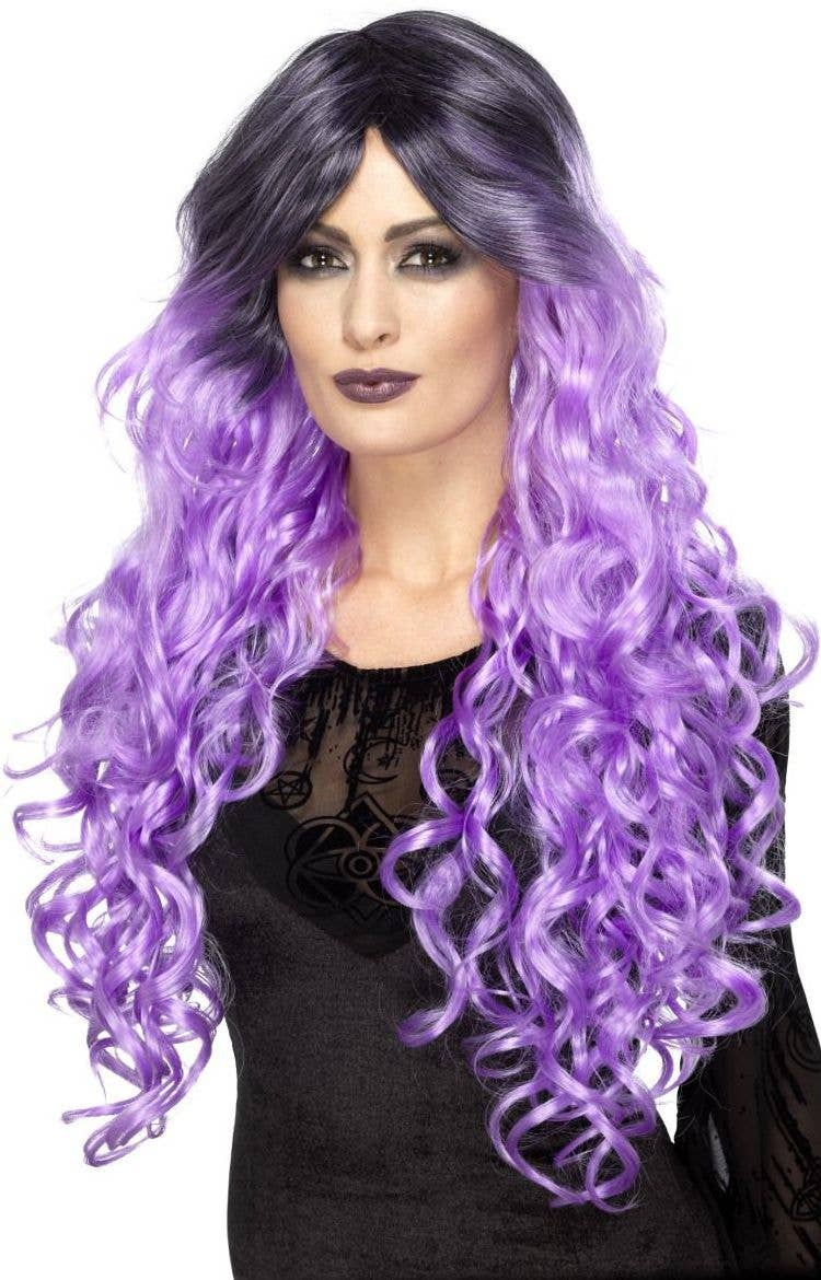 Lilac Gothic Glamour Women s Purple Ombre Halloween Wig - Main 1b4c546f0