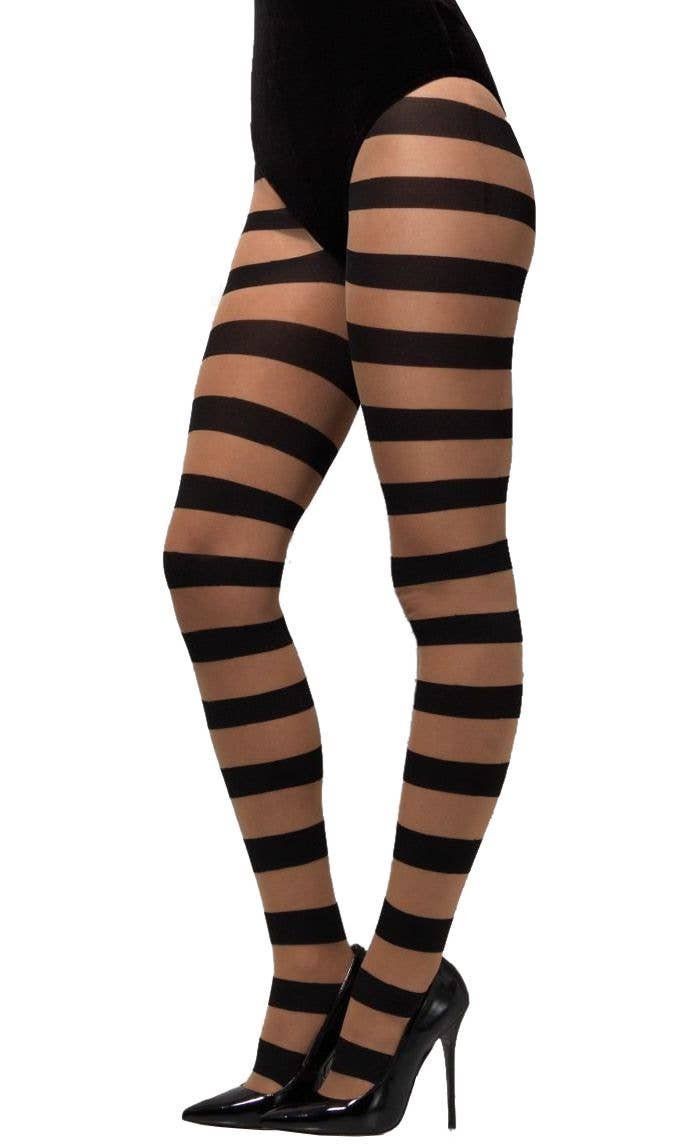 685774c766e47 Pirate Women's Striped Tights | Glam Witch Opaque Stockings