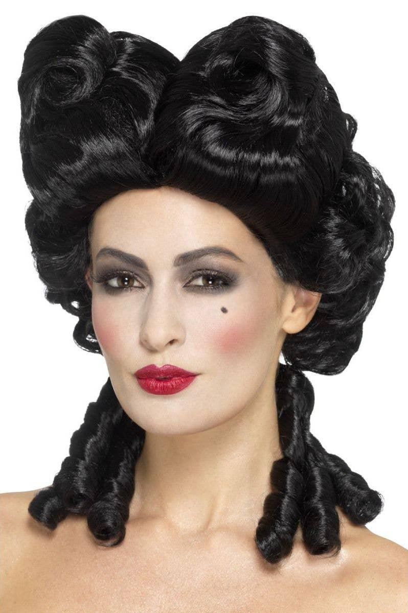 baroque women's gothic black masquerade wig | women's costume wigs