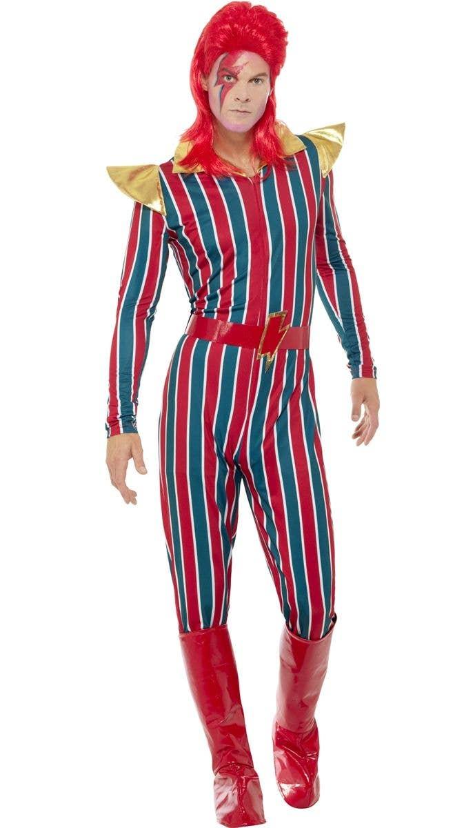 Bowie Men's Fancy Dress Costume | Men's David Bowie Pop Star Costume