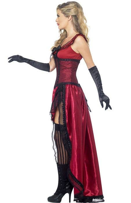 Red Saloon Girl Sexy Costume Wild West Brothel Babe Costume