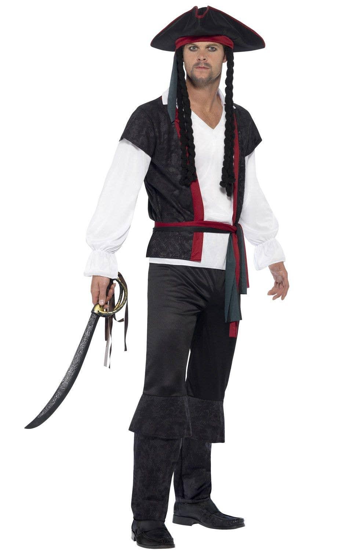 mens aye aye captain fancy dress pirate costume image 1